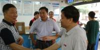 国家邮政局客人来校调研快递服务中心工作 - 江西师范大学