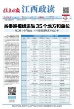 省委巡视组进驻35个地方和单位 - 中国江西网